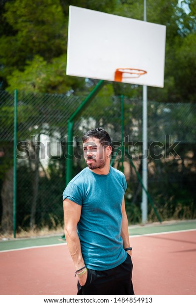 Portrait of a man exercising outdoors
