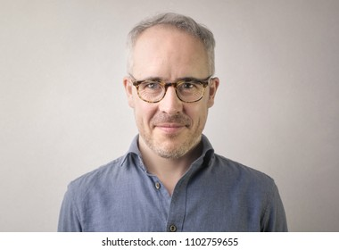 Portrait of a man with eyeglasses