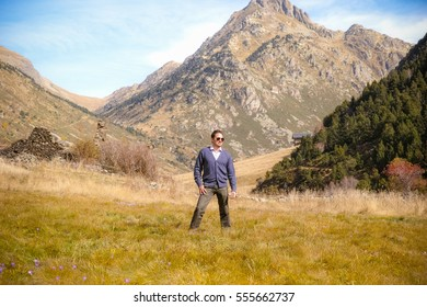 Portrait of a man at Incles valley, Andorra