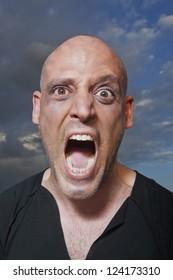Portrait of a man shouting