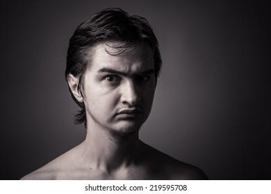Portrait of a Man (toning, dark key)