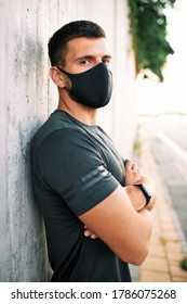 Portrait of a man wearing protective mask