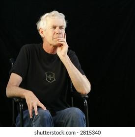 portrait of a man in a wheelchair