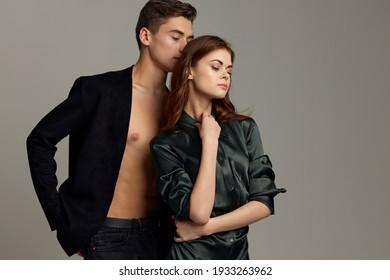 Portrait von Mann und Frau Mode-Studio Luxus-Leidenschaft
