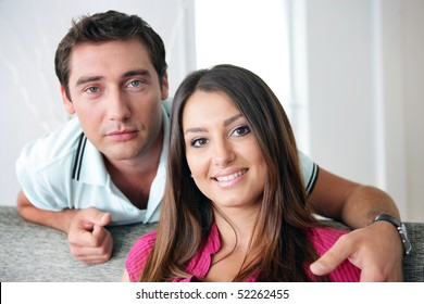 Portrait of a man and a woman smiling