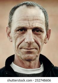 C�¡lose-up portrait of man's face