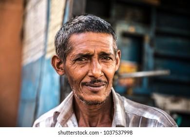 Portrait of a mature adult Indian man