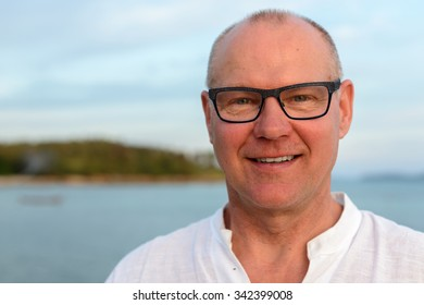 Portrait of mature adult man outdoors