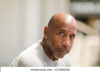 Portrait of a mature African American man.
