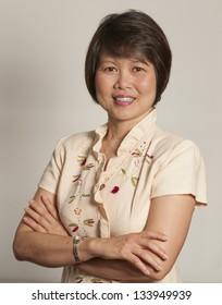 Portrait of mature Asian woman