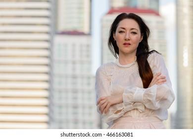 Portrait of mature businesswoman outdoors