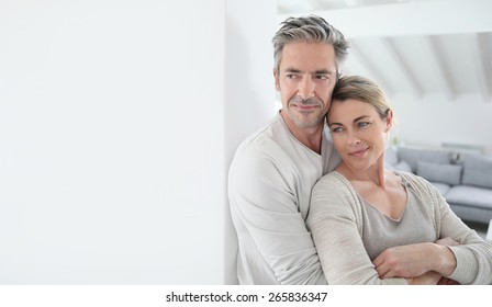 Portrait of mature couple looking toward the future