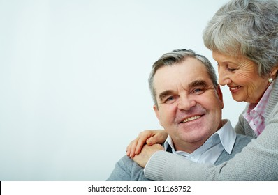 Portrait of a mature embracing couple