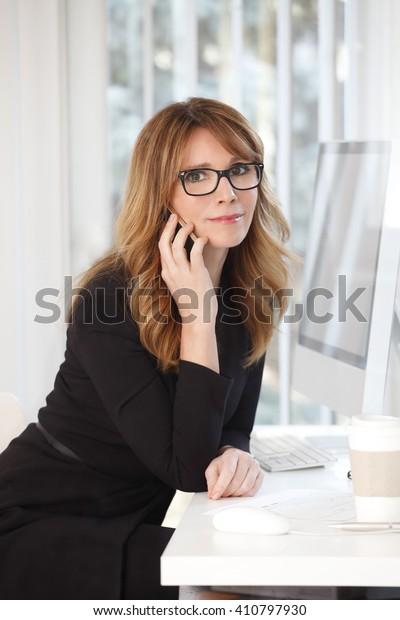 Mature model professional woman