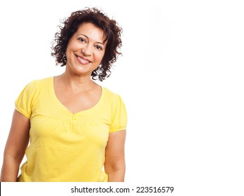portrait of a mature woman confident smiling