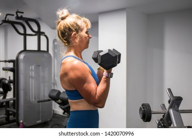 Portrait of a mature woman doing exercise