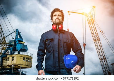 Portrait of a mechanical worker
