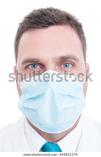 Portrait edit Mask Surgical Doctor Photo On Stock Now Medic