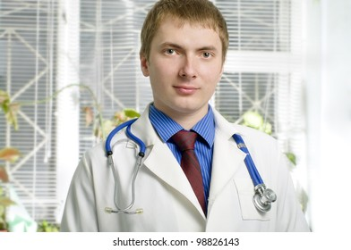 A portrait of a medical doctor in hospital