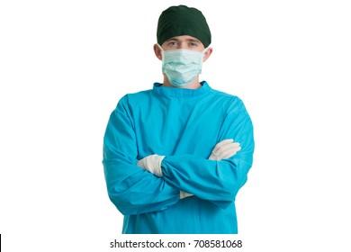 portrait medical doctor on white background, medical concept