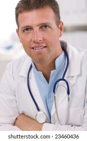 Portrait of medical professional at doctors room.
