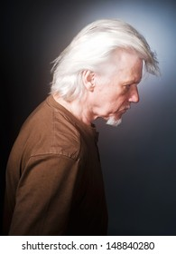Portrait of the men with grey hair