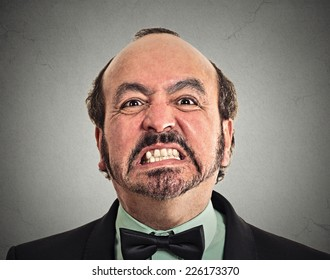 portrait of middle aged angry man