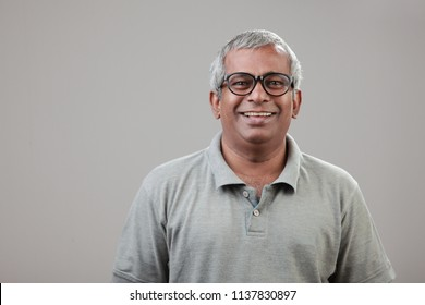 Portrait of a middle aged man of Indian origin