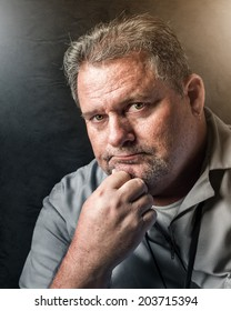 portrait of a middle aged working man
