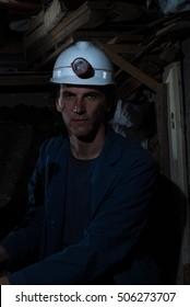 portrait of miner