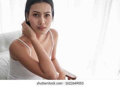 Portrait mini sexy asia woman