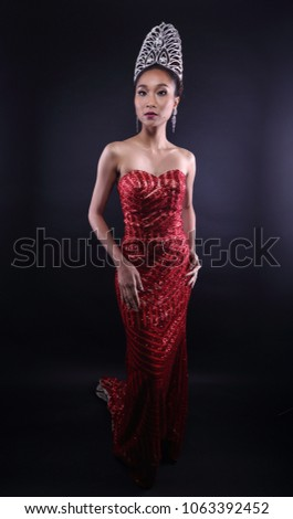 Portrait Miss Pageant Beauty Contest Red Stock Photo Edit Now