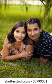 Portrait of a modern Indian couple.