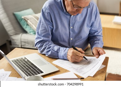 Image result for old person filling form