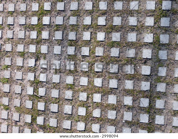 portrait of modern square sidewalk pattern