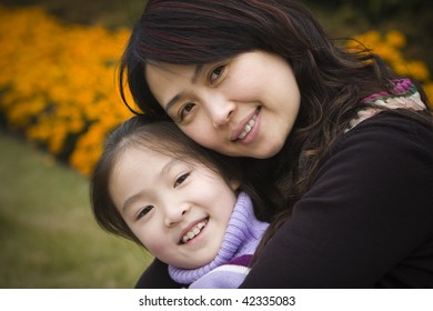 portrait of mother and daughter, shanghai, china