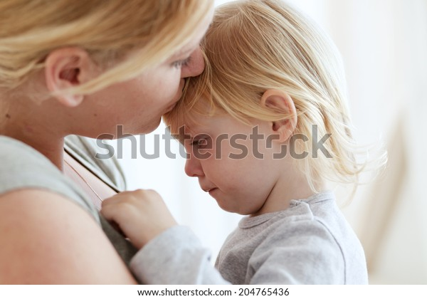 Portrait of a mother with her 2 years old child