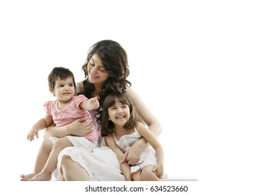 Portrait of a mother and her kids