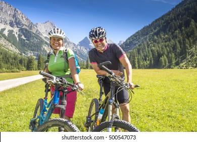 Portrait of Mountainbiker