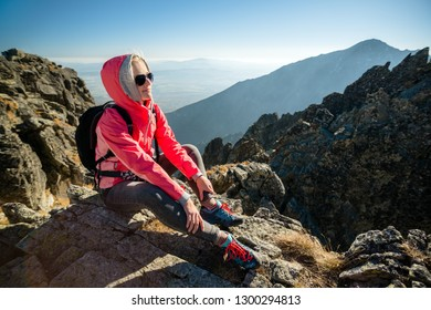 Portrait in the mountains