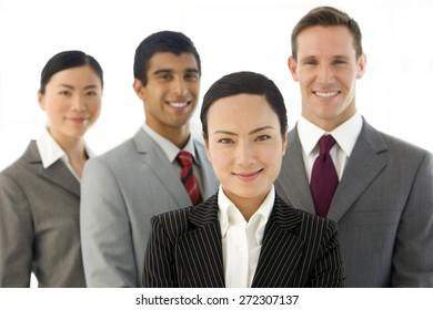 Portrait of a multi ethnic business team