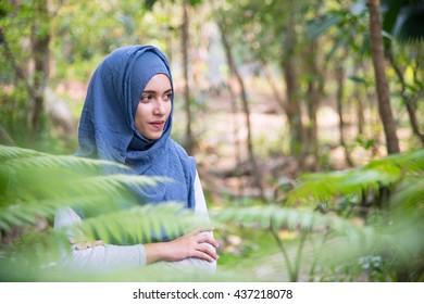 Portrait of Muslim Woman.