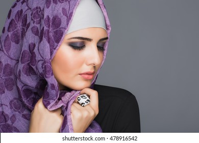 Portrait of Muslim women in hijab