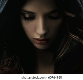Portrait of a mysterious woman