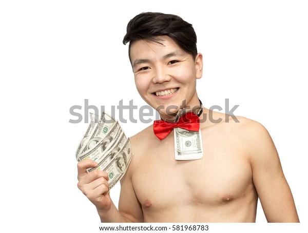 Portrait of a naked guy