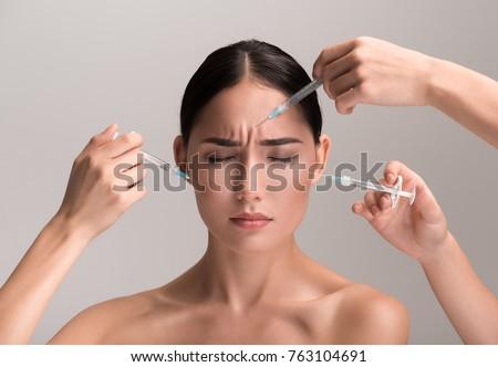 Naked asian women crying