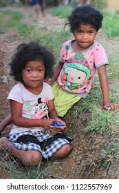 Portrait of Native Tribal Little Children. Taken at Arakan South Cotabato, Philippines. Last April 2018.
