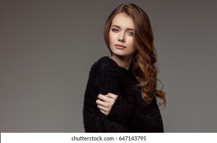 Portrait of natural young female model