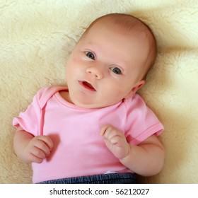 Portrait of a newborn girl