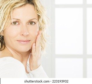 Portrait of nice 40 years old woman